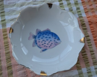 Vintage Fish Dish Candy Bowl Made In Japan