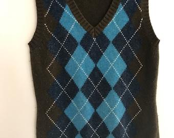 Esprit Knit Vest // Merino Wool // Angora //Preppy / Hipster / Grunge / Vintage // size xs