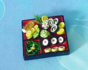 Sushi A Dollhouse miniature, Doll house decorative, miniature sushi, Dollhouse decorating
