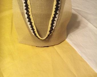 Yellow Black & White Crochet Jewelry
