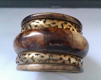 brass & bone bangle