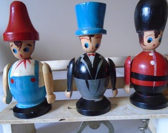 wooden figures barware,
