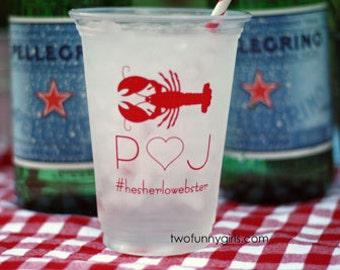 Custom Cups for Crawfish, Lobster, Shrimp Boil (Soft Plastic/Solo Cups)