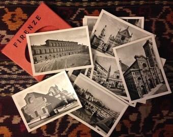 Pack of vintage souvenir Florence photos