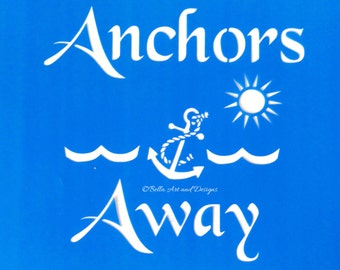 List 9 -  Nautical stencils *Free gift with every order*