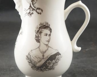 Bone China Pitcher to Mark 1953 Coronation of QUEEN ELIZABETH II