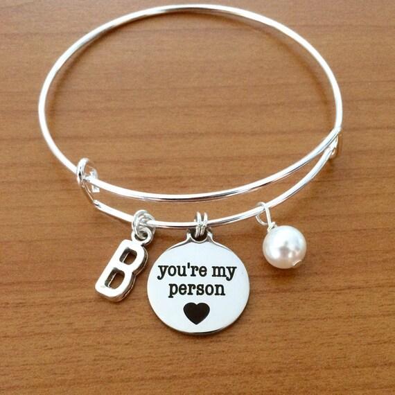 best friend gift you re my person bracelet greys anatomy