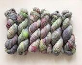 Sock Hand Dyed Australian 80/20 Merino nylon Revelry Sock Fingering 4 ply Knitting Yarn European Goldfinch
