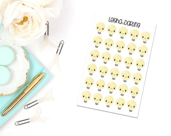 Kawaii Light Bulb Planner Stickers