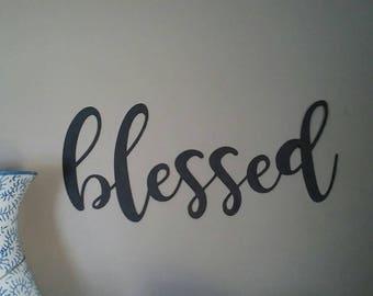Blessed word wall decor- blessed wall decor- blessed home decor