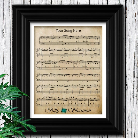 1st Anniversary Gift For Him Velvet Sheet Music To Your
