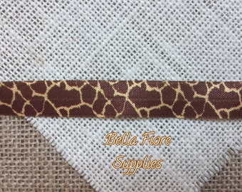 Giraffe Fold Over Elastic- Animal Print foe- FOE- Fold Over Elastic- Wholesale Elastic- DIY Headband- Giraffe FOE- Elastic By The Yar