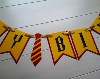 Harry Potter Happy Birthday Banner- Harry Potter Birthday Party Banner - Harry Potter Party Bunting - Harry Potter Party Garland