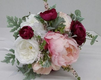 Pink/Cranberry Bridal Bouquet
