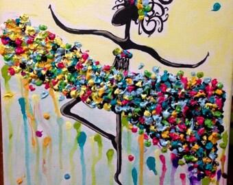 Multi-Colored Ballerina Tutu Painting