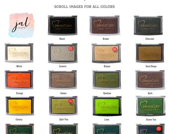 Ink Pads - VersaColor - Color Stamp Ink Pads - Pigment Based Ink Pads - Vibrant Fade Resistant - Archival Ink Pads - Rubber Stamp Pad
