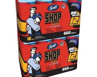 Scott Blue Shop Towels Bundle (24 Rolls, 1,320 Sheets)