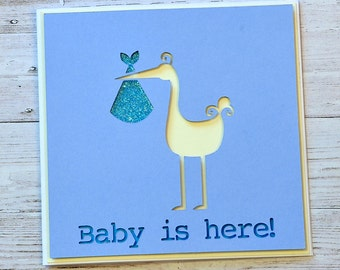 New Born Baby Card - Its a Girl - Its a Boy - Congratulations on your new baby - Baby Boy Card - Baby Girl Card- Neutral Baby Card