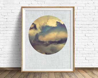 "cloud art, cloud photograph, large art, large wall art, instant download printable art, digital download, nature prints, gray - ""Shadows"""
