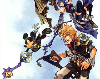 Kingdom Hearts Birth by Sleep Video game custom printed poster (18 x 24 or 24 x 36 inches)