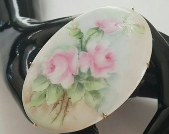 Hand Painted Porcelain Pin
