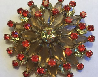 Stunning Juliana Multi Layer Brooch  D and E Delizza Elster # 170