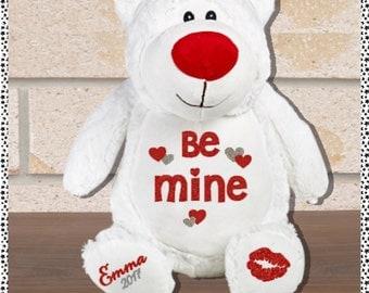 Valentine's Day Stuffed/Plush Teddy Bear (Teddy/Bear/Cubbie) *I love You *Be Mine *Marry Me