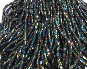 80g Vintage bohemian glass seed beads. Old glass beads