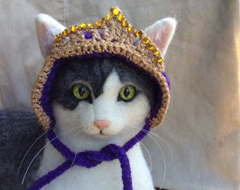 Cat hat, cat, tiara, cat costume, princess cat, princess hat, cat hats, pet supplies, kitten hat,  kitties, hats for cats, cat accessories