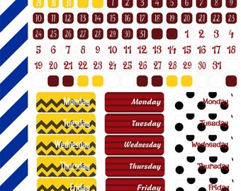 Snoopy Inspired Day and Date Cover Sheet,  Premium Matte Vinyl, Planner Stickers, Removable, Repositionable, For ECLP & Other Planners