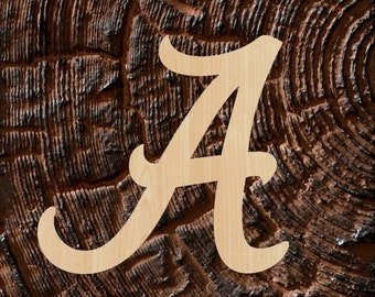 Alabama Font Letters - Wooden Letters - A to Z wood letters - Alabama Alphabet Cut Out - Wall hanging Letters - Initial Unfinished Unpainted
