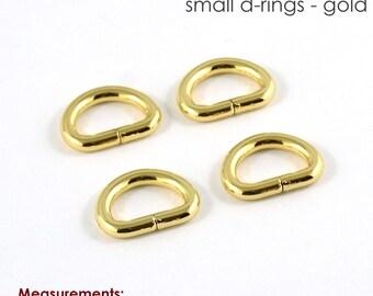 """D-Ring Hardware, D-Ring,  1/2"""" D-Ring,Gold  Half Inch D-Ring, Purse hardware, Bag hardware, Jewelry Hardware, Handbag hardware"""