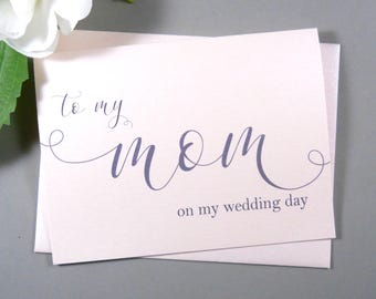 SHIMMER Card, To My MOM on my Wedding Day Card, To My Mother Card, Mother of the Bride Card, Mother of the Groom Card, Mother Card, Mom Card