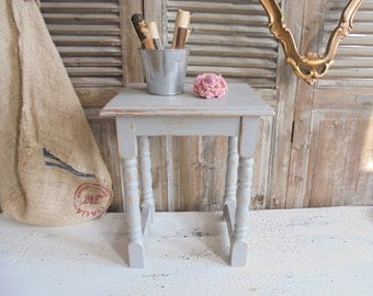 Side table Shabby grey table
