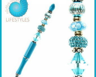 SEASHELL - Shelley Deann BUILD-A-Pen SET  (includes Pen Barrel and Beads)
