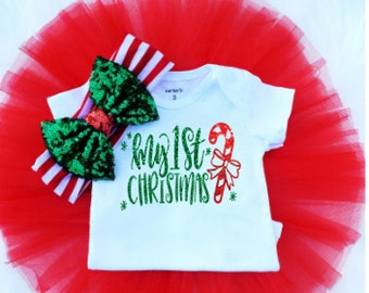 My First Christmas Outfit for Baby Girls| Baby Girl Clothes| Baby Girl Outfit| Tutu