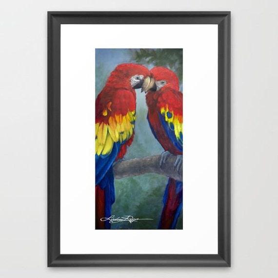Love Birds - Framed Paper Print