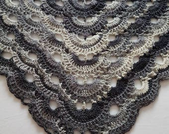 Crochet shawl, virus shawl, lace shawl, crochet wrap, crochet stole, made to order crochet shawl, spring wrap