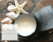 SUMMER COLLECTION | Soy Candles | Handmade Candles | Popular Candles | Farmhouse Decor | Zinc Container | Summer Candles | Gift