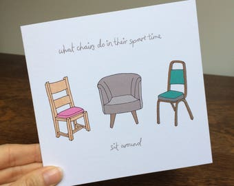 Illustrated cards // hand drawn card // funny card // illustration // blank cards // greeting cards // thank you card // new home card