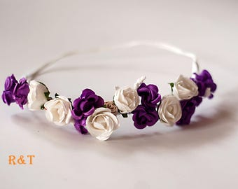 Flower Cronw,Lavender flower crown, Photography floral crown,  Photo props, flowers for head, RTS