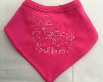 Pink Bandana - baby bandana -baby bib - pink bib - new baby gift - stork baby