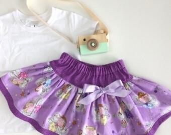 Twirly Skirt - Purple Fairies size 2-10