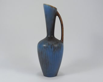 Gunnar Nylund harefur glaze pitcher vase, Rörstrand, Sweden, 1950s (V112)