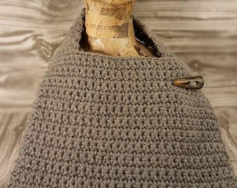 Crocheted bibs - gray or blue