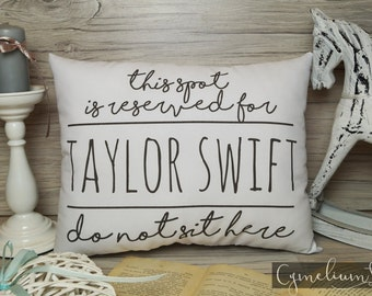 6 colors - Singer - this spot is reserved - hand made pillow