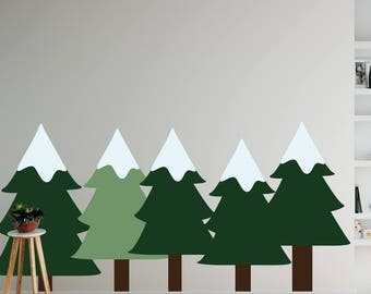 Pine Trees Set Wall Decal