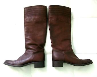 JIL SANDER Leather Brown Boots