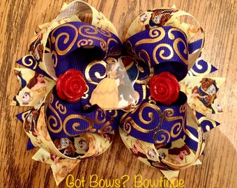 Beauty & the Beast Stacked Boutique Bow
