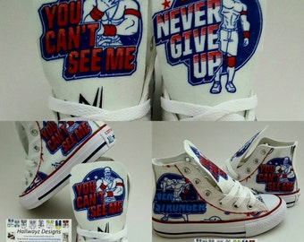 John Cena shoes, WWE Wresting Converse, chucks